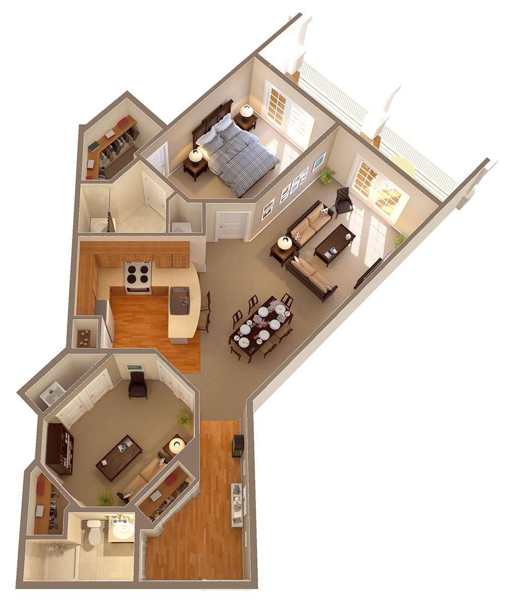 Spacious Apartment Floor Plans - Rollins Ridge